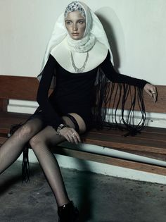 Couture Religious Editorials - The Catholic Guilt Design Scene Exclusive is Artful and Avant-Garde (GALLERY) Haute Couture Style, Couture Fashion, Hot Nun, Ange Demon, Mode Editorials, Sexy, Take Me To Church, Bad Habits, Nuns Habits