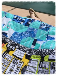 BowTie quilt using Our Town fabrics. www.creativebeestudios.com