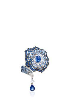 Enchanted Garden Diamonds And Blue Sapphire Ring by VANLELES for Preorder on Moda Operandi