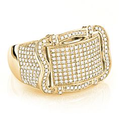 10K Gold Pave Mens Diamond Ring 1.15ct  Now 67% off - http://bit.ly/1FnHI2M