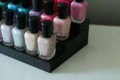 Ebony Black Table Top Nail Polish Rack Essential by Pinkofperfect nail polish storage