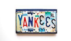 YANKEES OOAK license plate art New York Baseball by UniquePl8z, $42.00