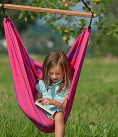 children's hammock: 2 of these hanging from my pergola.