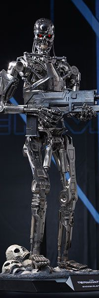 Sideshow Collectibles and Hot Toys are proud to present the Endoskeleton Quarter Scale Collectible Figure from The Terminator movie. The Endoskeleton Quarter Sc Terminator Endoskeleton, Terminator Movies, Smart Robot, Alien Vs Predator, Xenomorph, Cyborgs, Sideshow Collectibles, Artificial Intelligence, Cool Toys