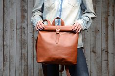 Leather backpack. backpack laptop backpack woman backpack