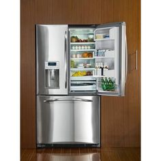 GE Profile - 25.1 Cubic Feet Energy Star Bottom-Mount, French Door Refrigerator - PFSS5RKZSS - Home Depot Canada Base Cabinets, Kitchen Cabinets, Kitchen Appliances, Kitchens, Best Refrigerator, French Door Refrigerator, Home Renovation, Home Remodeling, New Kitchen