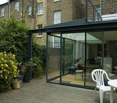 contemporary glass and steel structure