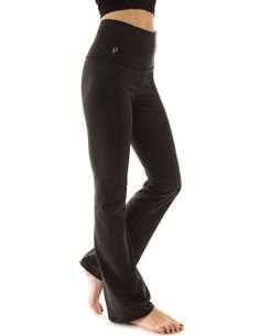7ee1b40eac28e Women's Shaping Series Bootcut Yoga Pants - Solid Black - C4120EKZNCR, Women's Clothing, Active