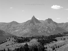 Oh sweet sweet mountains!  How I wish I could spend every one of my days with you!  Black & White Mountain Photography Series(set of 4 blank photo cards) -National Park, landscape, nature, Montana, Wyoming- FREE SHIPPING on Etsy, $11.00