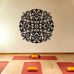 Mandala Yoga  Wall Decal Vinyl Sticker Wall Decor by CozyDecal, $15.99