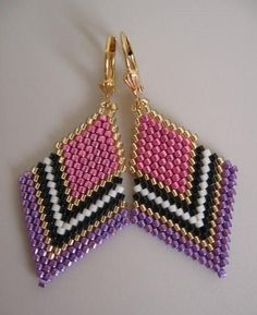 (172) Seed Bead Beadwoven Earrings
