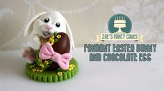 How to make a fondant Easter bunny rabbit hugging chocolate egg. In this cake decorating tutorial I show you how to make a fondant / modelling paste / gum pa. Bunny Cupcakes, Easter Bunny Cake, Chocolate Easter Bunny, Easter Cupcakes, Valentine Cupcakes, Pink Cupcakes, Easter Eggs, Fondant Toppers, Fondant Cakes