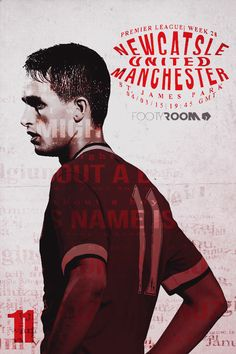 Poster for FootyRoom: Newcastle United vs Manchester United! Hope this lad will get another chance!