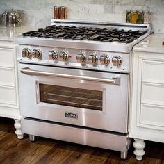 Ikea Kitchen, Kitchen And Bath, Kitchen Cooker, Kitchen Decor, Gas Stoves Kitchen, Vintage Kitchen Appliances, Antique Kitchen Stoves, Dual Oven, Double Oven Gas Range