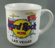 Mug Hard Rock Hotel Las Vegas Red Drum Set Logo Promo Ad Save Planet 10 oz Korea
