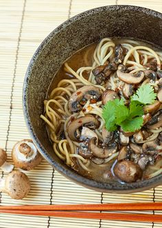 Spicy Mushroom Ramen - I have some mushroom stock coming my way soon and this is good inspiration