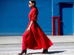 The Wear Red-on-Red Trend Like a Fashion Girl