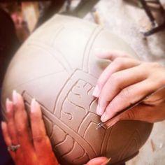 During the process of ours ceramics At . Ceramic Art, Cambodia, Lotus, Centre, Baseball Hats, Ceramics, Fine Art, Box, Ceramica