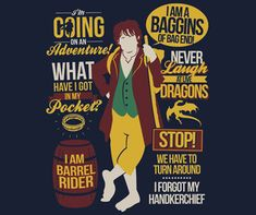 The Hobbit Quotes shirt is clothing for your own unexpected journeys. Wear it as you recall your favorite Bilbo Baggins quotes. Hobbit Bilbo, Hobbit Book, Bilbo Baggins, Lotr, Hobbit Quotes, Tolkien Quotes, Jrr Tolkien, Tea Quotes, Book Quotes