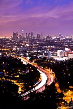 Los Angeles, California, As the night falls, the city comes alive…