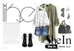 """""""SheIn"""" by menoly ❤ liked on Polyvore featuring Ann Demeulemeester, H&M and Ray-Ban"""