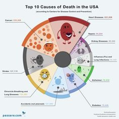 Top Ten Causes of Death in the United States [infographic]