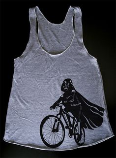 Darth Vader is Riding It Womens Tank Top printed