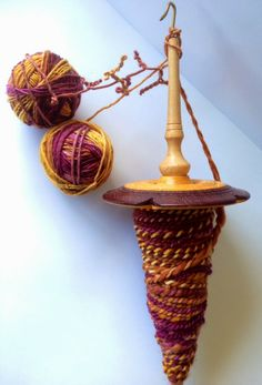 Nickerbockers - plying on a drop spindle