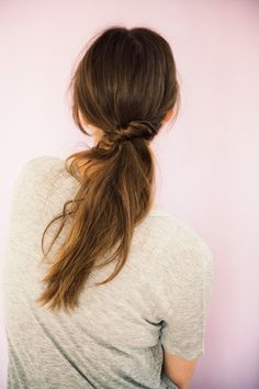 Ponytail twist tutorial