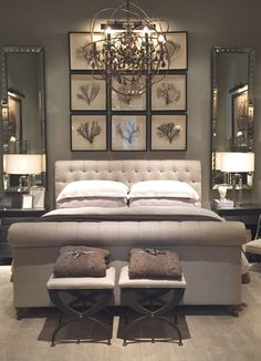 Restoration Hardware Tampa- Part One - Starfish Cottage | reminds me of our master bedroom | lovely neutrals
