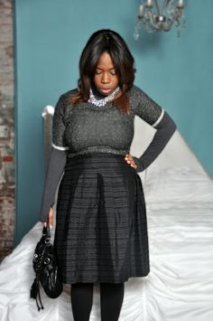 Plus size Layering! http://skinnyminorityblog.com/2014/01/09/how-to-layer-clothes-on-plus-size-curves/