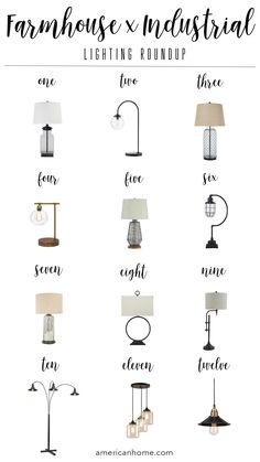 Farmhouse Industrial Lighting Roudup   American Home