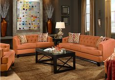 Shop for a Chicago Clay 5 Pc Living Room at Rooms To Go. Find Living Room Sets that will look great in your home and complement the rest of your furniture.