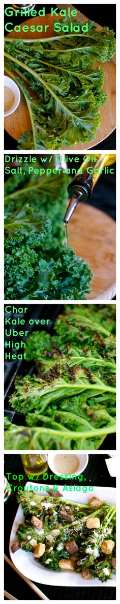 Join the Kale revolution and grill it this 4th of July! Grilled Kale Caesar Salad.