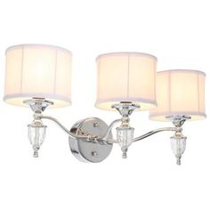 Hampton Bay Waterton Collection 3-Light Chrome Sconce-EW0374CH - The Home Depot