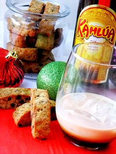 kahlua and biscotti  I normally make mine with canola oil BUT this one...........OH BOY!