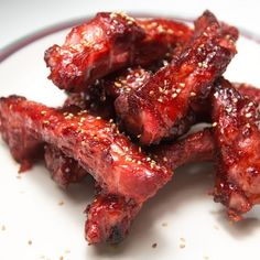 Chinatown Char Siu Ribs Or Pork Taste Great Cooked Indoors Or Out.Everybody loves those Chinese restaurant ribs. The secret is not the sauce, it's the marinade. You can do them at home on the grill or in the oven with this recipe. Salsa Hoisin, Hoisin Sauce, Soy Sauce, Pork Rib Recipes, Asian Recipes, Smoker Recipes, Char Siu Ribs Recipe, Chinese Boneless Ribs Recipe, Chinese Style Spare Ribs Recipe