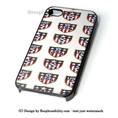 Usa Soccer Ball World Cup iPhone 4 4S 5 5S 5C 6 6 Plus Case , iPod 4 5 – Resphonebility