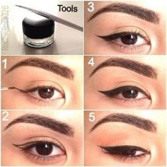 Simple Eyeliner, Perfect Eyeliner, How To Apply Eyeliner, Simple Makeup, Red Eyeliner, Perfect Lipstick, Cheap Makeup, Kajal Eyeliner, Eyeliner Pencil