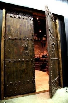 Double doors for sound isolation? basement home theater ideas (home theater ideas) Tags: small basement home theater, basement home theater diy, basement home theater bar designs Man Cave Home Theater Ideas, Home Theater Rooms, Home Theater Design, Man Cave Basement, Man Cave Garage, Garage Bar, Basement House, Eco Deco, Man Cave Homes