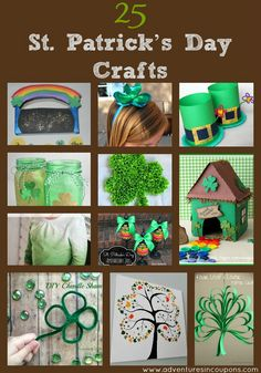 So cute! Kids will love these 25 Easy and Adorable St. Patrick's Day Crafts!
