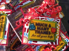 Student treats by Controlling My Chaos M M Gifts, Thank You Gifts, Cute Gifts, Best Gifts, Student Treats, Student Gifts, Teacher Gifts, Teacher Stuff, Girls Camp Activities