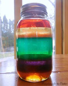 Experimentos infantiles con  colores, con frascos y con amor #color #experimentos #educación