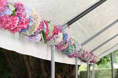 home made hydrangea garland ¡qué divino¡