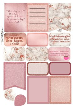 Rose Gold mini Weekly Kit planner stickers for ECLP IWP