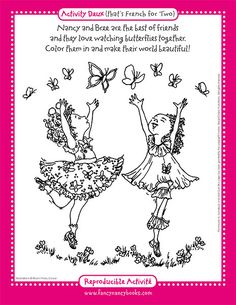 Fancy Nancy Coloring Pages | Fancy Nancy with Umbrella coloring ...