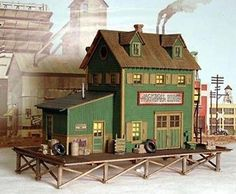 Bar Mills Waterfront Willys Laser-Cut Wood Structure Kit #0922 HO Scale