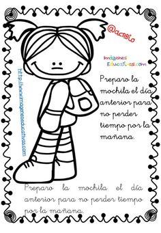 Rutinas libro para colorear y aprender (8) Filofax, First Grade, Hello Kitty, Blog, Snoopy, 1, Teaching, Education, Comics