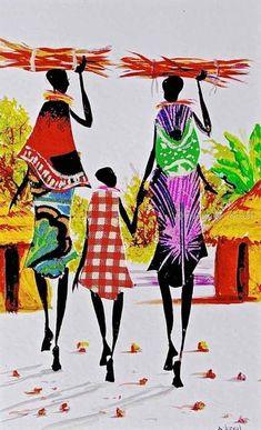 Albert Lizah | L-121 | Print | True African Art .com