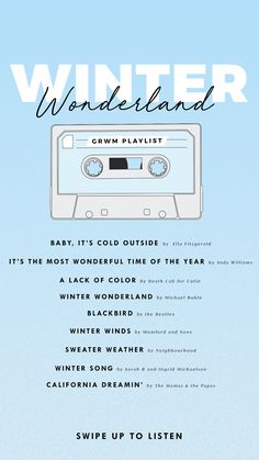 This GRWM Playlist Will Leave You Dreaming of Blizzards and Hot Chocolate – Modalbox Mood Songs, Music Mood, New Music, Winter Wonderland Song, Song Suggestions, Death Cab For Cutie, Lipstick Tutorial, Michael Buble, Song List